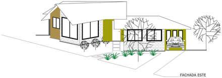 Fachada Principal: Casas de estilo rural por Loft 5101 F.P.