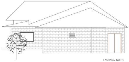 Fachada posterior: Casas de estilo rural por Loft 5101 F.P.