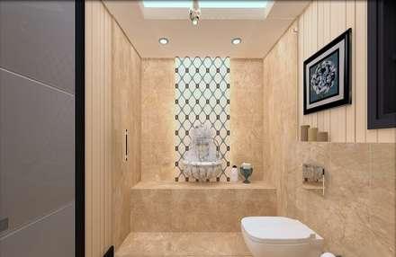 ESA PARK İÇ MİMARLIK – YURTKENT VİLLA PROJESİ : modern tarz Banyo
