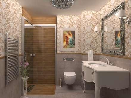 ESA PARK İÇ MİMARLIK – KONUT PROJESİ : klasik tarz tarz Banyo