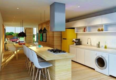 CASAS VERDES CAMPOS: Cozinhas modernas por hola