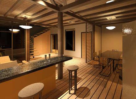 Vista interior de la vivienda: Comedores de estilo minimalista por Loft 5101 F.P.