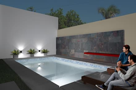minimalistic Pool by D'ODORICO OFICINA DE ARQUITECTURA