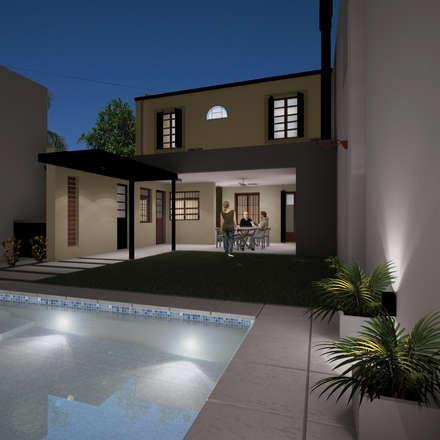 Casa FH - REFORMA PATIO : Piletas de estilo minimalista por D'Odorico Arquitectura & Obras