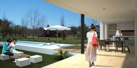 RESIDENCIA SUBURBANA - CASA CC: Piletas de estilo minimalista por D'Odorico Arquitectura & Obras