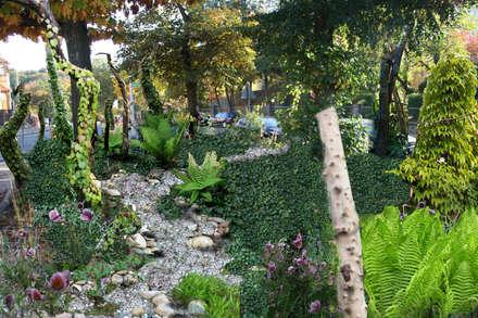 So soll das Wald-Thema einmal aussehen: tropischer Garten von Gartenarchitekturbüro Timm