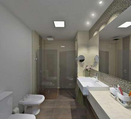 ห้องน้ำ by D'ODORICO OFICINA DE ARQUITECTURA