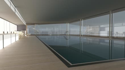 House 117: minimalistic Pool by Andrew Wallace Architects