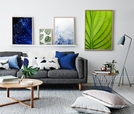Power of Nature: eclectic Living room by Pixers