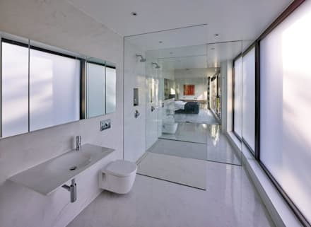 House 134: minimalistic Bathroom by Andrew Wallace Architects