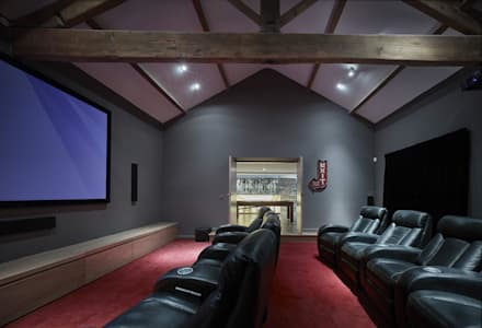 House 141: minimalistic Media room by Andrew Wallace Architects