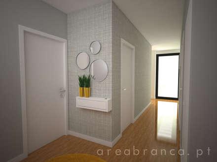 Hall Entrada: Corredores, halls e escadas modernos por Areabranca