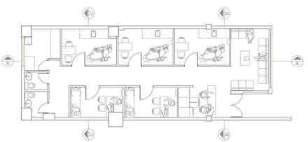Clínica odontológica: Clínicas de estilo  por Loft 5101 F.P.