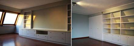 DEPTO. PSV.: Salas multimedias de estilo  por ESTUDIO BASE ARQUITECTOS