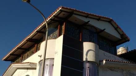 Terraza de Campiña: Terrazas de estilo  por Arkimel