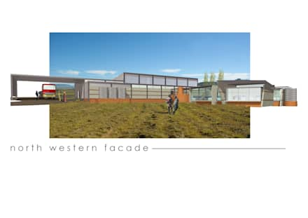 Tea Plant, Lesotho:  Offices & stores by Sm!t Architects