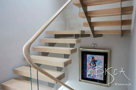 Multi Flight Staircase Design by Bisca:  Corridor & hallway by Bisca Staircases
