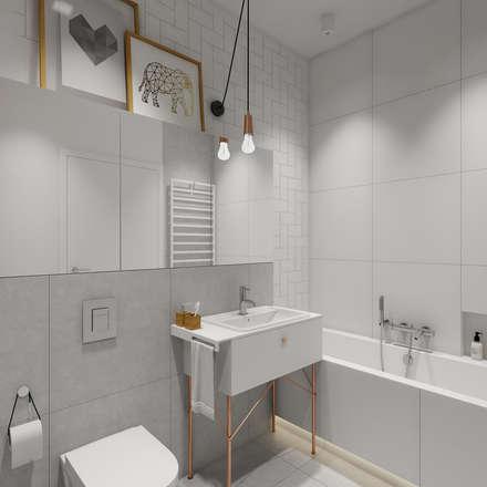 mieszkanie o polsko skandynawskim charakterze 83 mkw: styl , w kategorii Łazienka zaprojektowany przez INSIDEarch
