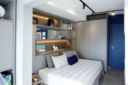 Walk in closet de estilo  por Aonze Arquitetura