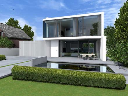 DOM AKURATNY : styl , w kategorii Basen zaprojektowany przez PAWEL LIS ARCHITEKCI