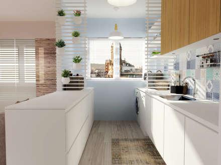Casa do Zé e da Vanda: Cozinhas escandinavas por Homestories