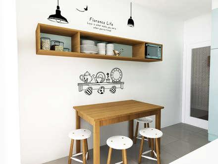 Casa da Margarida: Cozinhas escandinavas por Homestories