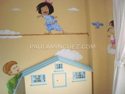 Murales infantiles: Dormitorios infantiles de estilo moderno de Murales y Cuadros por Paula Mínguez