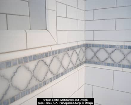 Tile Detail: classic Bathroom by John Toates Architecture and Design