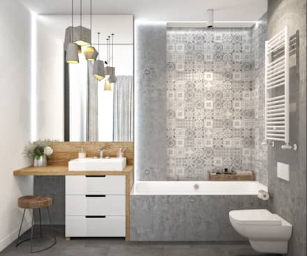 scandinavian Bathroom by PRIVALOV design