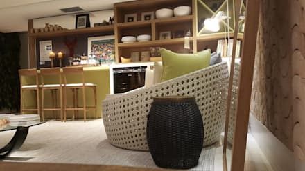 tropical Wine cellar by Lucio Nocito Arquitetura e Design de Interiores