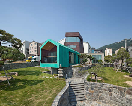 TOWER HOUSE: ON ARCHITECTURE INC.의  정원