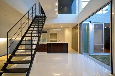 ITRSK-HOUSE: 門一級建築士事務所が手掛けた玄関/廊下/階段です。