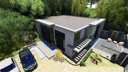 Vista general Proyecto Casa La Ciudadela : Casas de estilo moderno por Arquitectura Creativa