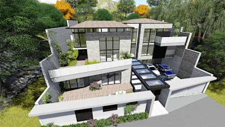 Proyecto Casa Querales Californiana 02: Casas de estilo  por Arquitectura Creativa