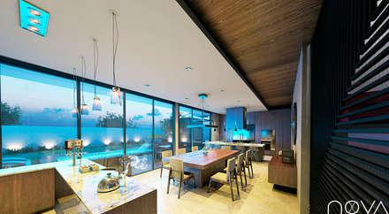 Comedor y cocina: Comedores de estilo moderno por Nova Arquitectura