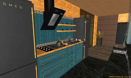 Kitchen: Кухни в . Автор – GNAdesigngroup