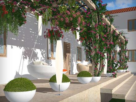 VILLA AT THIRUVANMALAI: modern Garden by De Panache  - Interior Architects