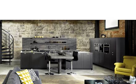 : rustic Kitchen by Schmidt Kitchens Barnet