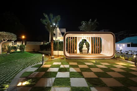 Vajram Aster homes: modern Garden by microscapes