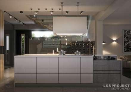 Unser Entwurf LKu00261302: Moderne Küche Von LKu0026Projekt GmbH