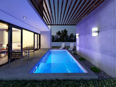 modern Pool by MUTAR Arquitectura