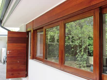 Meranti Double Sliding Window : minimalistic Windows & doors by Window + Door Store Cape