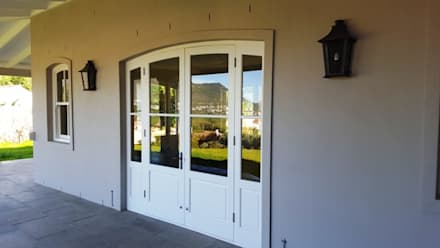 Arched Double Doors + Side Lights :  Windows by Window + Door Store Cape