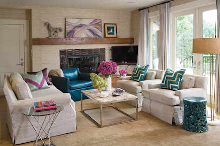 Greenwood Village Home: classic Media room by Andrea Schumacher Interiors