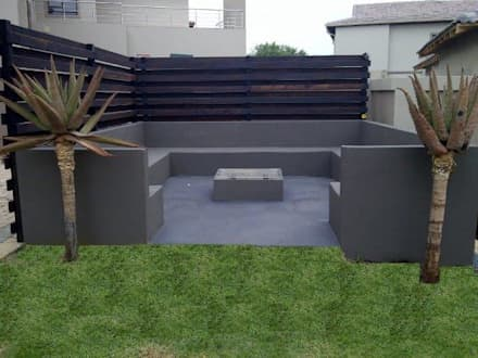 Project Completed by Liquid Landscapes: modern Garden by Liquid Landscapes