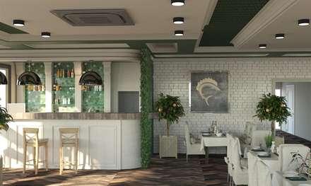 Рыбный ресторан: Стены в . Автор – DS Fresco