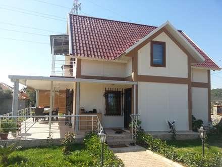 TUNA PREFABRİK – 105 m2 Çift Katlı Prefabrik Konut: modern tarz Evler