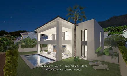 Vivienda en la Capellanía (Málaga): Casas de estilo mediterráneo de David Marchante  |  Inmaculada Bravo