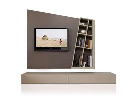 MODELO 3A  - MUEBLE DE PARED HOME THEATER: Salas de entretenimiento de estilo minimalista por 3 DECO