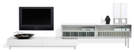 MODELO 11B  - MUEBLE MODULAR -  HOME THEATER: Salas / recibidores de estilo minimalista por 3 DECO